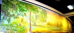 Full length mural at the new Assembly Hall of Jehovah's Witnesses in Orangeburg SC  Just Beautiful!