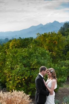 the scenery from this wedding is incredible...why i want a destination wedding!