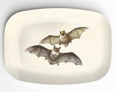 Spooky Soiree Essentials From Etsy: It would almost be a shame to cover this Bats Melamine Platter ($24) with food.