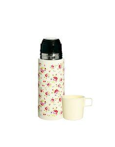 Thermos à motif roses avec tasse