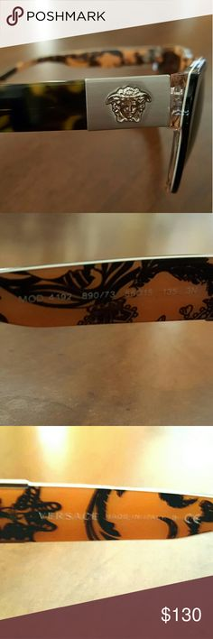 Versace shades Versace logos on both ends, brown with a nice patter inside authentic, does not come with a box , use but in great shape Accessories Glasses