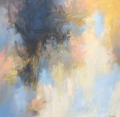 "Debora Stewart, ""Transcendent Nature,"" acrylic on canvas, 36 x 36 x 2.25"
