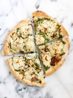 Duck Confit Pizza with Mashed Potatoes and Brussel Sprouts | Bacon Egg & Cheese{cake}-2
