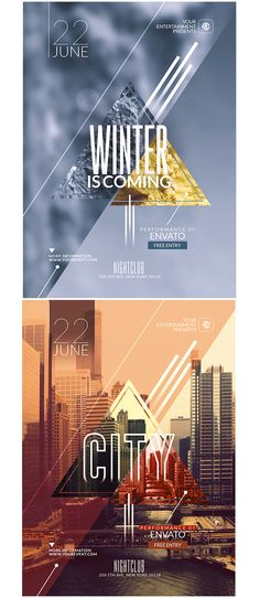 Hipster Flyer Templates 3 on Behance
