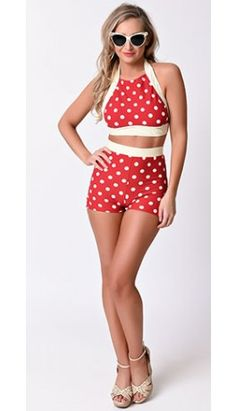 Retro Bikinis - Two Piece Vintage & Pin Up Bathing Suits Vintage Bikini, Vintage Swimsuits, Cute Swimsuits, Two Piece Swimsuits, Modest Swimsuits, Swim Shorts Women, Bathing Suit Shorts, Bathing Suits, Bikinis Retro