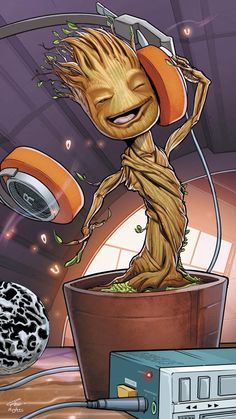 Baby Groot. Oh yeah! - Guardians of the Galaxy iPhone wallpaper @mobile9