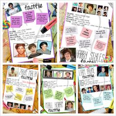 One directions fact files!!