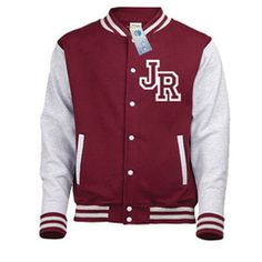 From Varsity College Jacket ( Medium - Burgundy / Heather Grey ) New Premium Unisex American Style Letterman Blank Baseball Custom Top Mens Womens Ladies Gift Present Quality Awd Soulstar Omega Bomber - B Varsity Letterman Jackets, Football Jackets, American Football Ball, Latest Fashion Clothes, Look Fashion, Purple Jacket, Style Casual, Unisex, Pulls