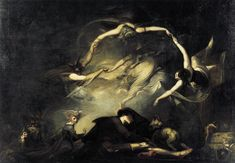 The Shepherd's Dream, Henry Fuseli  Tate England, Photo (C) Barnaby Thieme  Fairy elves,  Whose midnight revels, by a forest side  Or fountain, some belated peasant sees,  Or dreams he sees, while overhead the moon  Sits arbitress    John Milton  Paradise Lost.