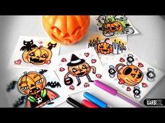 How To Draw Cartoon Pumpkins - Halloween Doodles by Garbi KW