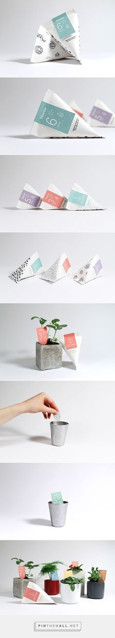 Flat end cone #packaging for seeds