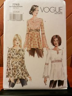 Vogue 7743 Misses' / Misses' Petite Top Size by SewEssentiallySew, $7.50