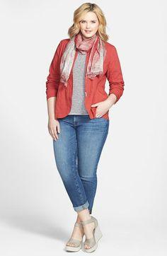 Grey Sequin Boyfriend Jacket | Plus size fashion | Pinterest ...