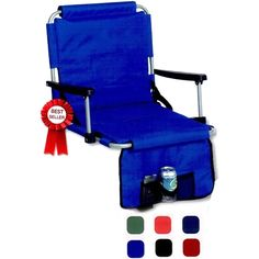 Stadium Chair with hand warmers from www.schoolspiritstore.com