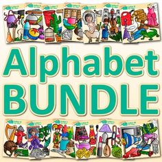 Alphabet Clip Art: Boost your student's phonics, spelling, and reading abilities with this huge pack of alphabet letters. Create a word wall showcasing each letter of the alphabet. Design literacy centers for your kindergarten students.