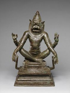 Yoga Narasimha, Vishnu's Man-Lion Incarnation | India (Tamil Nadu) | Chola period (880–1279) | The Met