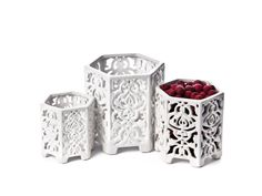 Hex Candle Holders by Skalny by