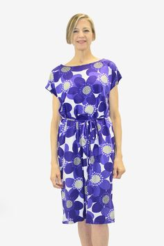 Ristomatti Ratia Sinivuokko Usva Dress Blue/White