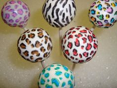 Simple (but wild) cake pop patterns.