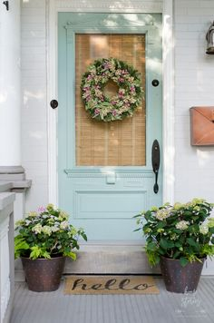 Blue and Green Porch: Endless Summer Hydrangeas - Home Stories A to Z