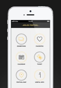 Arles Festival, App Concept on App Design Served Mobile App Design, Arles Festival, Ui Ux Design, My Design, Graphic Design, Brainstorming App, Best Mobile, App Ui, Creative Industries