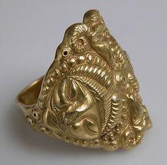 Gold ring, 4th century B.C. Celtic France.