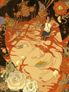 Illustrations by Victo Ngai | Cuded.  Snakes, chains, skeletons, hidden in some phantasmagoria.