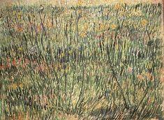 Vincent Van Gogh  Pasture in Bloom  Oil on canvas  31.5 x 40.5 cm.  Paris: Spring, 1887
