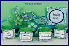 Pretty Paisley products are made with the perfect combination of soothing colors to create a beautifully coordinated classroom theme! $ classroominspirations.com