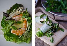 blissful eats with tina jeffers: Shrimp saladrolls