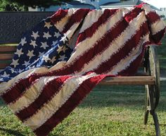 rag quilt | American Flag Rag Quilt by ShellieLK on Etsy