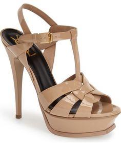 Saint Laurent 'Tribute' T-Strap Platform Sandal (Women) - $895.00