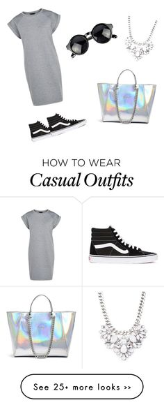 """Casual"" by lola-keyser on Polyvore featuring Vans, Forever 21 and GUESS"