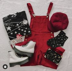 Teen Fashion Outfits, Retro Outfits, Cute Casual Outfits, Cute Fashion, Look Fashion, Vintage Outfits, Aesthetic Fashion, Aesthetic Clothes, Mode Cool