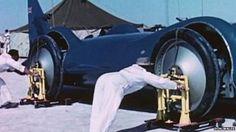 M. Campbell record Salt flat Bonneville 'Bluebird'