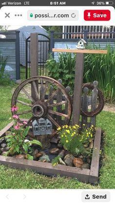 backyard designs – Gardening Ideas, Tips & Techniques Garden Junk, Garden Yard Ideas, Garden Crafts, Lawn And Garden, Garden Projects, Outdoor Projects, Rustic Garden Decor, Cottage Garden Design, Rustic Gardens