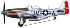 Lt. Arnold E Mettel. Aurora IL. 369th Fighter Squadron. P-51K 44-11636 IV-A Chicago.