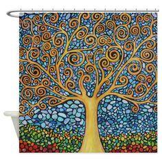Tree Of Life Shower Curtain on CafePress.com