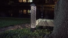 VOLT Bollards - Illuminated Towers, Beautiful and Compelling Day & Night. Take your landscape lighting to the next level with VOLT® Bollards. Flagpole Lighting, Patio Lighting, Simple Dining Table, Landscape Lighting Design, Outdoor Landscaping, Outdoor Areas, Towers, Patio Ideas, Backyard Ideas