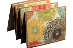 Retro thank you cards, modern thank you notes, blank note card set. $8.00, via Etsy.