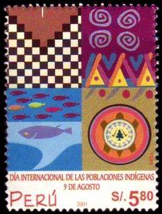 Día internacional de los pueblos indígenas. Peru, 2001.