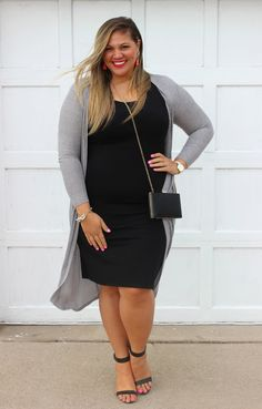 Forever 21 Plus Size Fashion // Tanya // Blogger // socuteandcurvy.com // Body Con // Long Cardigan // Spring Look
