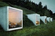 Modern Hobbit Parking:  Car Parking in Style / #architecture