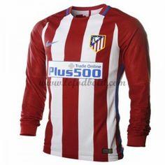 Billige Fodboldtrøjer Atletico Madrid 2016-17 Langærmet Hjemmebanetrøje