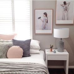 Sunday morning bedroom inspo. Featuring stunning artwork by Vee Speers available…