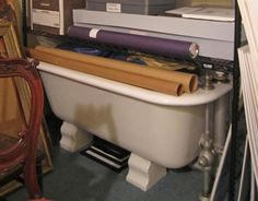 The tub is most likely of a somewhat later period although it does have a nice classical shape. Bartow-Pell Mansion