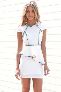 Peplum Pipe Dress