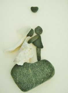 Beach Grass — Bridal Pebble Art Collage