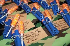 NERF war birthday party favors!