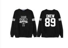2016 New Girl Winter Hoodie Kpop Shinee Terry Long Sleeved Sweatshirts Hoodies Moletom Hoodies Exo Sweatshirts